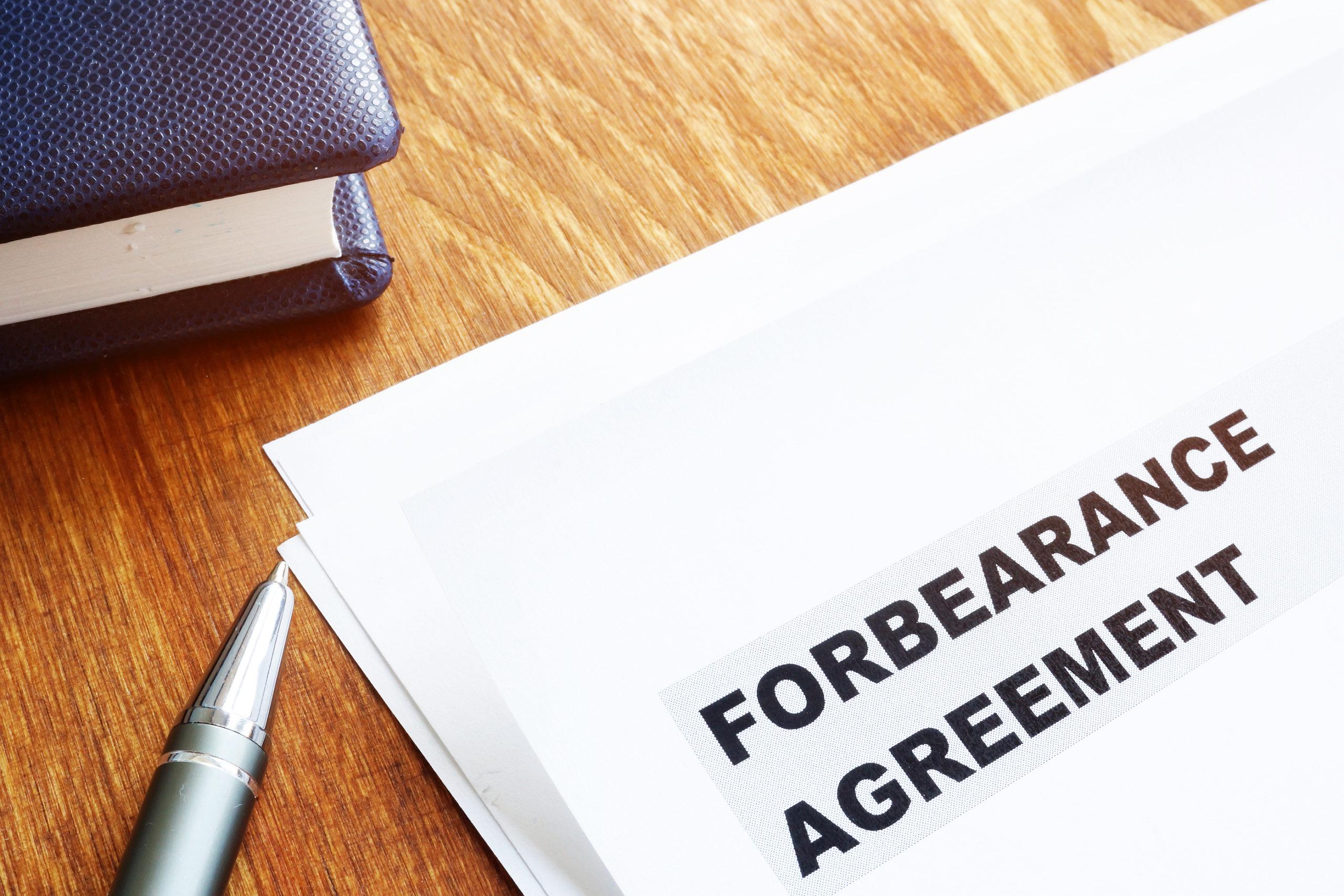 Forbearance-agreement